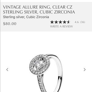 Pandora Authentic Vintage Allure Ring